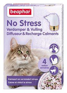 Beaphar – Diffuseur Calmant, anti-stress pour apaiser l'animal – chat – 1 prise et 1 recharge de 30 ml