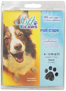 Canine doux griffes Chien et Chat Nail Caps prendre Home Kit, XS, Noir