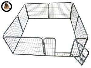 Ellie-Bo Enclos pour chiot modulaire, 158x 158x 60cm, 8pièces