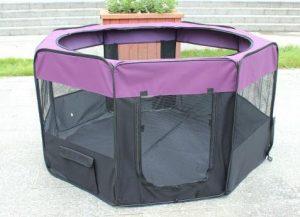 Parc à Chiot , Kaka mall Enclos Pliable pour Chaton Chien Lapin Animaux de Compagnie ( Taille XL: 61*99cm*8pcs/Dia:161cm) Violet