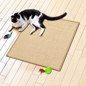 Tapis griffoir casa pura® jaune clair pour chats | sisal résistant | produit 100% naturel | 3 tailles – 100x100cm