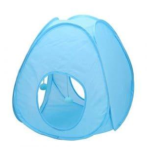 UEETEK Tente de plein air pour chat en plein air pour chiots de chiot pliable pour les animaux de compagnie (bleu)