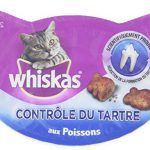 WHISKAS – Contrôle du tartre – Friandises pour chats – Boîte de 40 g – Lot de 8