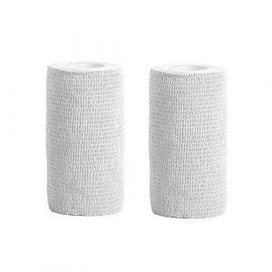 Bandage cohésif–2Rouleaux X 10cm X 4.5m First Aid Pet Vet Wrap bandages