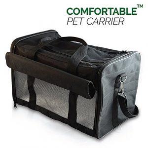 Petsn'all – Sac Transport Chat, Chien, Animal en Noir, Conforme aux normes des Compagnies aériennes