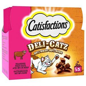 Catisfactions Friandises Deli-Catz au Boeuf pour Chat 5x5g