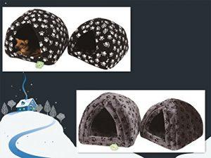 FONSA Luxe Pet Panier igloo pour chien et chat Lit igloo Maison confortable