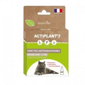 Actiplant'3 – Pipettes antiparasitaires pour grand chat
