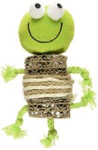 Savvy Tabby croustillantes Grenouille à herbe à chat jouet pour chat, Vert, 10,2cm