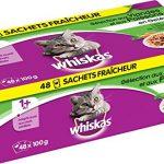 Whiskas – Sachets fraîcheur aux viandes et aux poissons en gelée pour chat 1 avec 48x100g