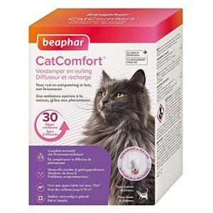 Beaphar – Catcomfort, Diffuseur et recharge anti stress aux Phéromones – Chat – 1 prise et 1 recharge de 30 jours