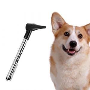 Onetwothree Veterinary kit Otoscope pour Animal Domestique LED Multifonction pour Chiens et Chats, Bon pour vérifier d'une Oreille/œil/Aide à la Bouche, pour Traitement Anti-acariens