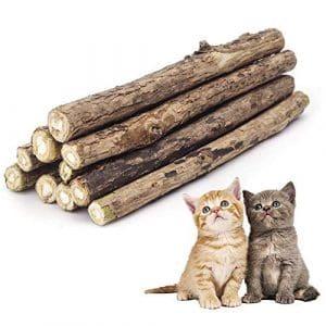 ✮GARANTIE A VIE✮-Colonel Cook®- Matatabi|lot de 10|✮✮Marque Française✮✮-cataire/catnip bio naturel pour protection soins dentaires- herbe a chat (actinidia polygama) goût menthe lutte contre la mauvaise haleine-jouet chats sous forme de batons à mâchonner