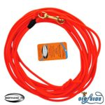 Bio-leine Laisse en biothane Rond Orange Corde enduite 10m