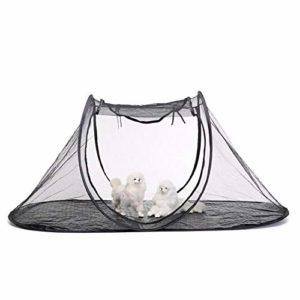 Tente de chat portable, Womdee 74,4 «x 35,4» x 30,7 «chat en plein air playpen pliable PET Playhouse respirant et durable maille tente pour chat intérieur, lapins, cochons d'Inde, furets
