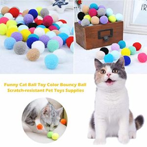 Eayse Jouet Chat Balle drôle Couleur Balle rebondissante Anti-Rayures pour Animaux de Compagnie Jouets Jouets Fournitures Very Well Well-Suited