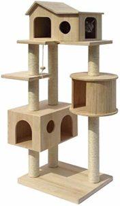 Arbre à chat Cat Escalade Cat Cat Tour Jungle Gym Grand Arbre en bois Cat Scratch après avoir joué Activity Center Toy Divertissement Amusement multiniveau Chat Escalade Meubles Appartement Arbre à ch