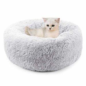 Legendog Lit de Chat de, lit Doux/Chaud d'animal familier/lit de Sommeil de Chat/Lits d'animal familier pour des Chatons Dormant (Light Gray)