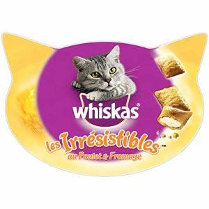 Whiskas les Irrésistibles – Friandises au poulet et au fromage pour chat, 1 boîte de 60 g de récompenses