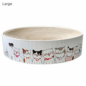 Alacritua Chat Rond Scratch Pad Rond Scratcher Scratching Cardboard Durable Plat Carton Cat Scratcher Lounge gorgeously transferable Value Gifts