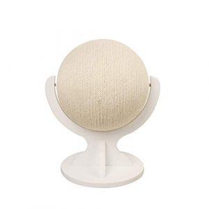 Arbre à Chat, Planche de Chat sisal de Haute qualité de la Carte Chat Globe Peut être utilisé à l'intérieur/extérieur Conception de Base en Bois Massif Jouet Balle Catch Centre activité,Blanc