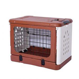 Bac À Litière Bac Litiere Pour Chats Maison De Toilette Pour Chat Pliant Pet Cage Air Box For Puppy Toilet Clean Easy Fully Inclosed Toile (color: Brown Size: M.91x61x71cm)-m.91x61x71cm_marron