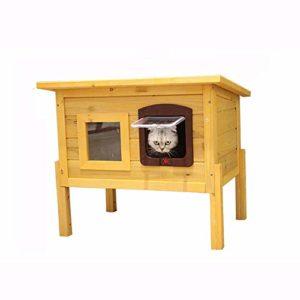 BEDS Maison pour Chat en Bois avec Petite fenêtre Design Cage pour Chat pour Animal Domestique et Animal Domestique Confortable Convient pour la Course en intérieur et en extérieur