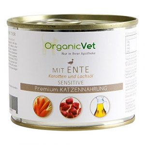 Boîtes Alimentaire Chat Sensitive Canard 200 g