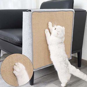 Calayu Cat Scratch Mat Housse de Protection pour canapé accoudoir Anti-Scratching Pad pour Porte Basse