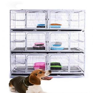 FENGHUANG Chien Cage Animaux Cat Plateau Heavy Duty Strong House Dog avec Roue Pet Kennel
