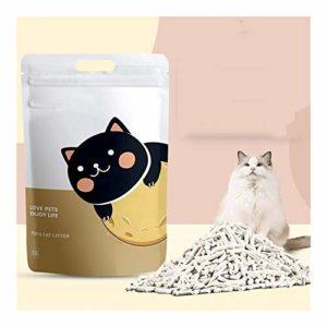 FJXQCY Fournitures de Chat déodorant litière de Chat Naturel dustless Chat litière Tofu litière for Chats 6L (Couleur : Original)