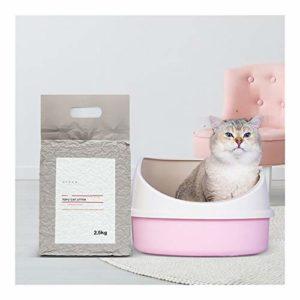 FJXQCY Litière for Chat condensé déodorant Efficace sans poussière Facile aux Fournitures de Chat Propres 2500 g