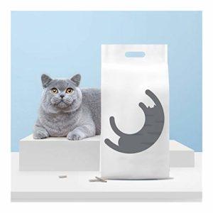 FJXQCY Sable de Tofu de la litière du Chat Actif déodorant Carbone de Fines Particules sans poussière 2500 g encens de Haricot Naturel