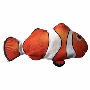 FORYOURS 1 PC Chat Jouet Électrique Poissons Automatique Simulation Poissons Battant Poissons, USB en Peluche Jouet Chat Interactive Rechargeable À Mâcher Jouet Effective