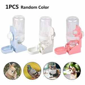 Goodtimera Pet Automatique Potable Fontaine Suspendue Cage Distributeur d'eau Multifonctionnel Pet Fournitures Universel pour Petits Animaux justifiable serviceable
