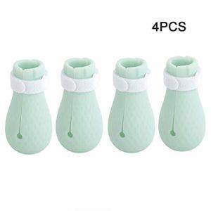 Hffheer 4pcs Chat Chaussures de Bain Anti-Rayures Chat Bottes en Silicone réglable Pied de l'animal de Compagnie Couverture Chat Patte Protecteur pour la Maison de Bain Rasage