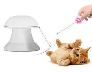 interactif Jouets de lumière (rotatif automatique de lumière et d'une Patte Style lumière LED Pointeur) pour chiens et chats pour Divertir Chase train Rayures