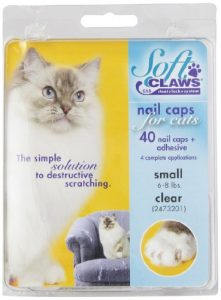 Kit de Protège-Griffes SoftClaws pour Chats Adultes Transparent – SMALL