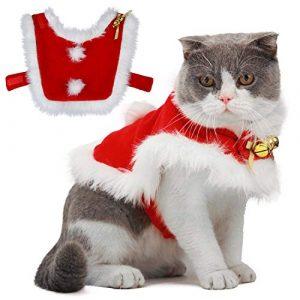 Legendog Robe Noel Chat,Nouveau Deguisement de Noel Chat -Taille Ajustable – Cadeau de Noël spécial pour Les Chats et Les Chiots