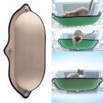 Lit de litière pour Chat Pet Kitty Window Sill Barsch Hamac avec Ventouse pour Petit et Moyen, N° 0, Beige, Free Size