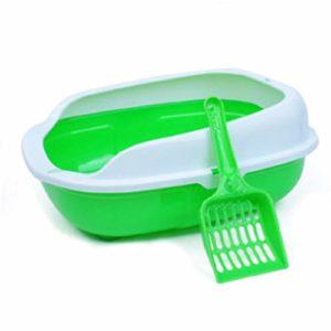 Liuxiaomiao Bac à litière pour Animal Domestique avec tamisage et Coffre Portable pour Chat avec Bords Hauts et Rebord hygiénique pour Usage intérieur