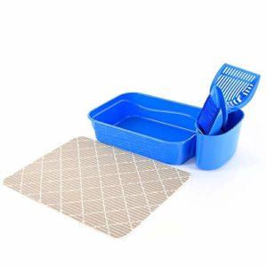 Liuxiaomiao Bac à litière pour Animal Domestique – sans Odeur, Anti-adhésif, Facile à Nettoyer – Hygiénique pour Usage intérieur