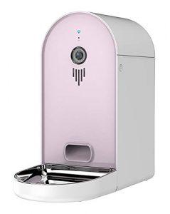MWKLW Distributeur d'aliment pour Animaux familiers 6L, cuvettes d'animal familier Multiples d'alimentation d'énergie de synchronisation quantitative-Pink-42 * 20 * 41cm