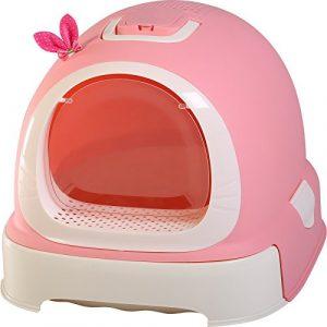 Pet Online Toilettes chat style mignon surdimensionné entièrement clos de la litière pour chat cat pot, 52 * 42 * 40cm, rose