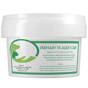 Primary Pets – Détachant Plaque pour Chien – Maintient la Plaque Hors – Poudre Naturelle pour Arbre à thé pour tartre et haleine fraîche