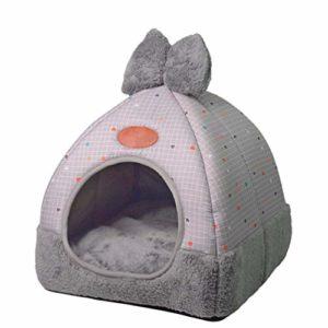 TianBin Fermé Pliable Nid d'animal Automne et Hiver Chaud Chat Maison La Mode Lit de Chien (Gris#2, L)