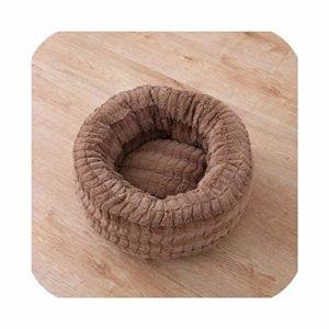 Vicky Lit bébé en Peluche Moelleuse pour Animal Domestique et Chat avec Couchage Profond Lavable pour Chat, S 40x40cm, Marron