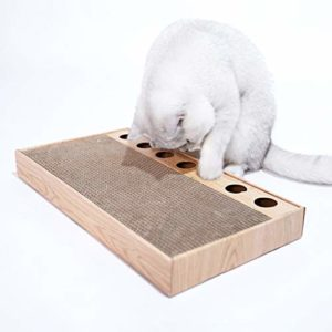 Yo-Yo Cat Espionner Paper Board Corrugated Cat Claws plaque Scratching résistant à l'usure Plate Griffe de chat Broyage Plate Claw Fournitures Immune Jouet for chat balle chat Fournitures pour animaux