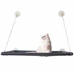 AMOY HUANHUAN Hamac pour Chat avec fenêtre Suspendue à Ventouse Type lit Suspendu Grille pour Chat Respirant Cool hamac fenêtre Bain Soleil Vue nid Chat