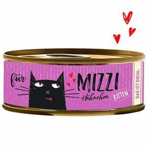 BUBECK Chat Doublure Kitten–Nourriture humide–mizi–Poulet Boîte 100g